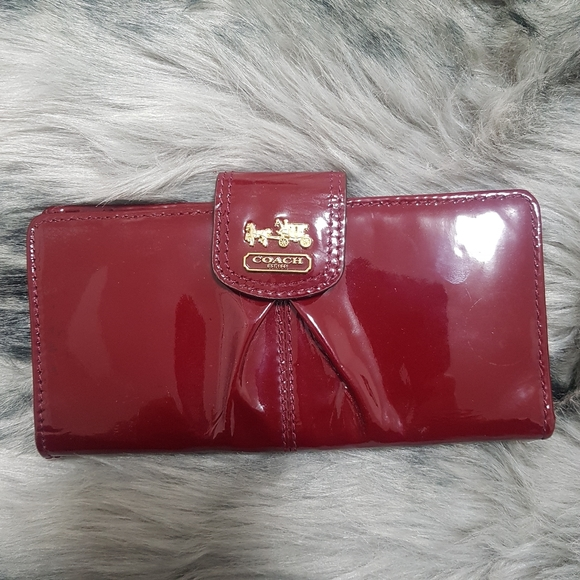 Coach Red Patent Leather Wallet